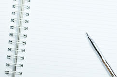 Notizbuch und Stift Stockfotos