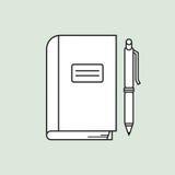 Notizbuch und Stift Lizenzfreies Stockbild
