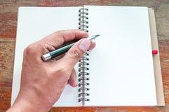 Notizbuch und Stift Stockfotografie
