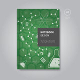 Notizbuchdesign in der Mathematikschablonenart Lizenzfreie Stockfotografie