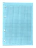 Notizbuchpapier getrennt Lizenzfreie Stockbilder