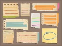 Notizbuchpapier- u. -höhepunktelemente lizenzfreie abbildung