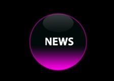 Notizie al neon dentellare del tasto Fotografia Stock Libera da Diritti