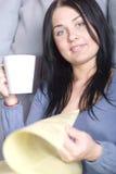 Notizie & caffè Immagini Stock