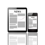 Notizie dal mondo degli affari Fotografia Stock