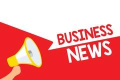 Notizie dal mondo degli affari del testo di scrittura di parola Concetto di affari per il megafono corporativo lou di comprension illustrazione vettoriale
