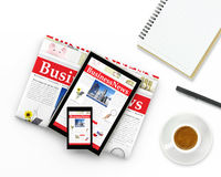 Notizie dal mondo degli affari di Digital Fotografia Stock