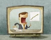 Notizie dal mondo degli affari sulla TV Fotografia Stock