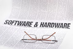 Notizie del software Fotografia Stock