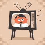 Notizie della TV Immagini Stock Libere da Diritti