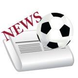 Notizie di gioco del calcio Immagini Stock