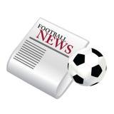 Notizie di gioco del calcio Fotografia Stock Libera da Diritti