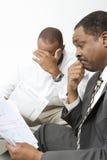 Notizie di Giving Client Bad del ragioniere Fotografia Stock Libera da Diritti