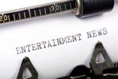 Notizie di intrattenimento Immagine Stock