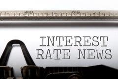 Notizie di tasso di interesse immagine stock libera da diritti
