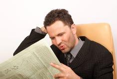 Notizie difettose in giornale Immagini Stock