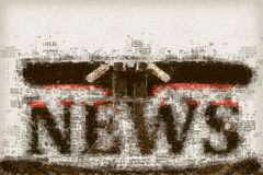 Notizie e giornalismo, illustrazione concettuale Immagini Stock Libere da Diritti