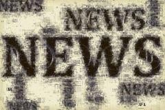 Notizie e giornalismo, illustrazione concettuale Fotografia Stock Libera da Diritti