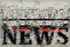 Notizie e giornalismo, illustrazione concettuale Fotografie Stock Libere da Diritti