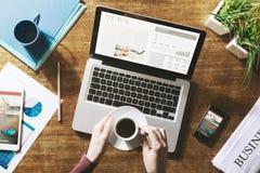 Notizie finanziarie online Immagini Stock
