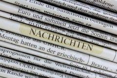 Notizie, giornale Fotografia Stock Libera da Diritti