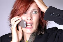 Notizie inattese Fotografie Stock Libere da Diritti