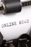 Notizie in linea Immagini Stock Libere da Diritti