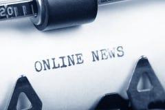 Notizie in linea Fotografia Stock