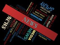 NOTIZIE - nuvola di parola - MEDIA - MEDIA - nuvola di parola - MEDIA - nuvola di parola - GIORNALISMO - GIORNALISMO - nuvola di  Immagini Stock