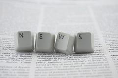 Notizie sul giornale Fotografia Stock