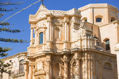 Noto: The capital of the Baroque. the old town was declared a World Heritage Site. City built in the style of the Sicilian Baroque royalty free stock photos
