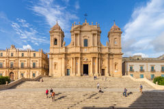 Noto Cathedrahl Sicilien Italien Arkivbild