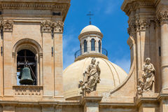Noto Cathedral in Noto, Sicily, Italy Stock Images