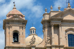 Noto Cathedral in Noto, Sicily, Italy Stock Photos
