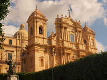 Noto Cathedral. Photo took in Noto on Sicily stock image