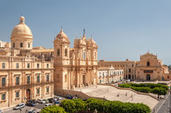 Noto Cathedral is a Roman Catholic cathedral in Noto in Sicily Royalty Free Stock Photography