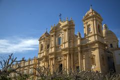 Noto cathedral at Sicily Royalty Free Stock Image