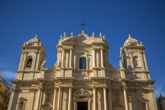 Noto cathedral at Sicily Stock Photography