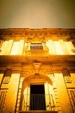NOTO, ITALIA - diseño tradicional de la ventana en el cierre t del monasterio Fotografía de archivo libre de regalías