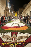 Noto in Province of Siracusa, Sicily. The Infiorata. Stock Photos