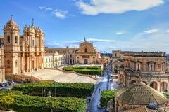 Noto, Sicilië Stock Foto's