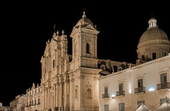 Noto Sicily cathedral Stock Photos