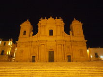 Noto Town Hall. Photo took in Noto on Sicily royalty free stock photography