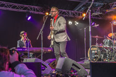 Notodden blues festival, little andrew, norway Royalty Free Stock Images