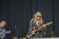 Notodden blues festival 2013, tedeschi trucks band, usa. Royalty Free Stock Photos