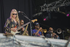 Notodden blues festival 2013, tedeschi trucks band, usa. Royalty Free Stock Image
