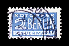 Notopfer Berlin, serie, circa 1949. MOSCOW, RUSSIA - FEBRUARY 20, 2019: A stamp printed in Germany, Allied Occupation 1945-1949 shows Notopfer Berlin, serie stock images