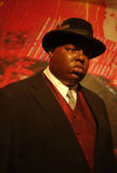 The Notorious B.I.G. Wax Figure. A wax figure of rapper The Notorious B.I.G. at Madame Tussauds in New York City Royalty Free Stock Photo