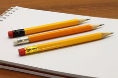 Notpad and pencils Royalty Free Stock Images