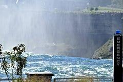 Notpunkte bei Niagara Falls New York Stockfotos